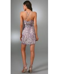 MILLY | Purple Knotted Cascade Dress | Lyst