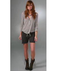 Monrow | Black Fleece Vintage Shorts | Lyst