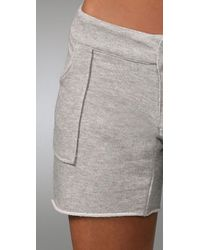 Monrow - Natural French Terry Shorts - Lyst