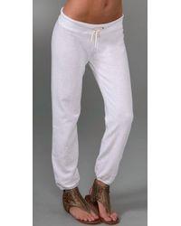 Monrow - White Vintage Sweatpants - Lyst