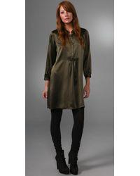 Nili Lotan | Green Tuxedo Dress | Lyst