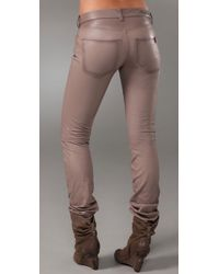 Notify | Natural Skinny Leather Pants | Lyst