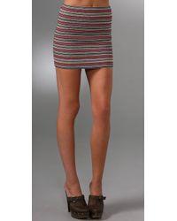 Pleasure Doing Business - Natural 9 Band Miniskirt - Lyst