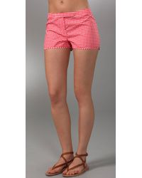 Pret-a-surf | Red Gingham Boy Shorts | Lyst