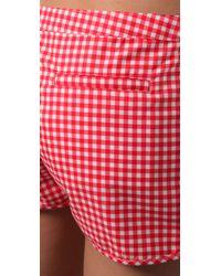 Pret-a-surf | Red Gingham Boy Shorts | Lyst