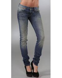 PRPS | Blue Super Skinny Dart Jeans | Lyst