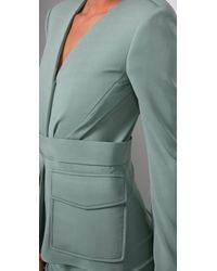 Rachel Roy - Green V Neck Jacket Dress - Lyst