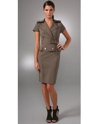 Rachel Roy | Natural Sculpted Trench Dress | Lyst