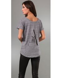 Rebecca Minkoff | Gray Amour Tee | Lyst