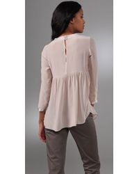 Rebecca Taylor - Natural Bohemian Evening Blouse - Lyst