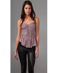 Rebecca Taylor | Pink Sparkle Corset Top | Lyst