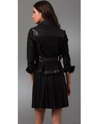 Sachin & Babi - Black Embroidery Anglais Leather Jacket - Lyst