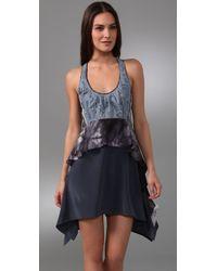 Sachin & Babi - Blue Denim Combo Dress - Lyst