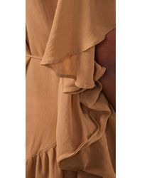 Shakuhachi | Natural Day Tripper Frill Cape Dress | Lyst