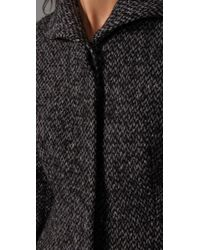 Shoshanna | Gray Funnel Neck Coat | Lyst