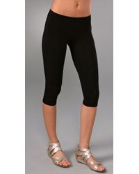 Splendid | Black Capri Leggings | Lyst