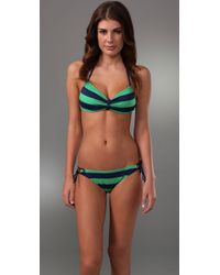 Splendid | Green Marcell Stripe Sweetheart Bikini Top | Lyst