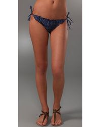 Splendid | Blue Swim Lola Pin Dot Tie Side Bottom | Lyst