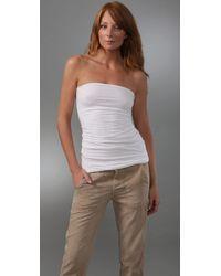 Splendid - White Stretch Tube Dress / Skirt - Lyst