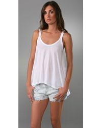 Splendid | White Very Light & Fashionable Draped Tank | Lyst