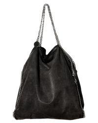 Stella McCartney | Black Mini Bella Star-print Denim Tote Bag | Lyst