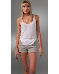 T By Alexander Wang | White Tencel Variegated Rib Tank | Lyst