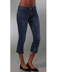 Textile Elizabeth and James | Blue Joni Cropped Flare Jeans | Lyst