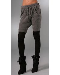 Thakoon | Gray Leggings with Attached Shorts | Lyst