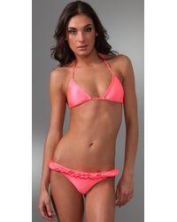 Thayer | Pink Braided Ruffle Bikini | Lyst