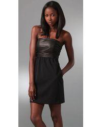 Theory | Black Amandie Strapless Dress | Lyst