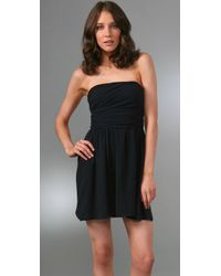 Theory - Black Frederica Strapless Dress - Lyst