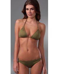 Tibi | Green Ring Bikini Top | Lyst