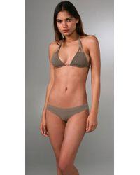Tori Praver Swimwear | Natural Daisy Triangle Bikini Top | Lyst