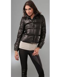 Torn By Ronny Kobo | Black Ruthie Bubble Leather Jacket | Lyst