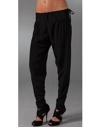Tucker - Black Silk Pants - Lyst