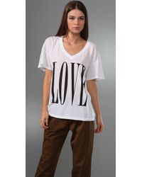 Wildfox | White Big Love Tee | Lyst
