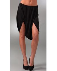 Willow | Black Silk Sarong Shorts | Lyst