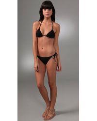 Zimmermann | Black Noir Frill Triangle Bikini | Lyst
