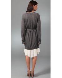 3.1 Phillip Lim - Gray Cardigan Trench Sweater - Lyst