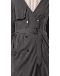 3.1 Phillip Lim - Gray Cardigan Trench Sweater - Lyst