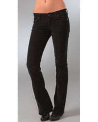7 For All Mankind | Black Boot Cut Corduroy Pants | Lyst