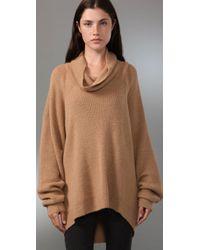 Alexander Wang - Natural Cowl-neck Alpaca Sweater - Lyst