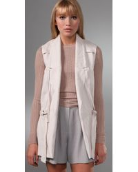 Alexander Wang - White Tie Vest with Corded Lapel - Lyst