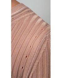 Alexander Wang | Natural Sheer Rib Long Sleeve Top | Lyst