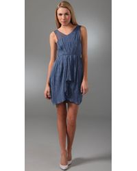 Alice + Olivia | Blue Bella Silk-chiffon Dress | Lyst