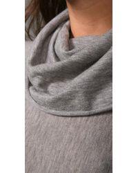 Alice + Olivia - Gray Cowl-neck Sweater - Lyst