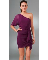 Alice + Olivia - Purple Marcia One Shoulder Dress - Lyst