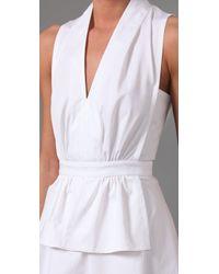 Derek Lam - White Peplum Dress - Lyst