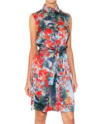 Erdem | Multicolor Blossom Print Satin Dress | Lyst