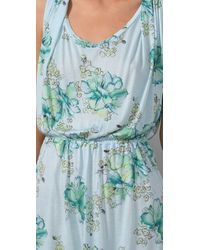 Free People - Blue Floral Muscle Tunic - Lyst